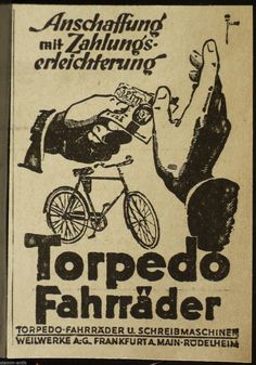 Torpedo Fahrräder, Fahrrad, Weilwerke A.G. Frankfurt a.M. - Rödelheim, orig.Anzeige 1926   eBay