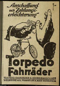 Torpedo Fahrräder, Fahrrad, Weilwerke A.G. Frankfurt a.M. - Rödelheim, orig.Anzeige 1926 | eBay