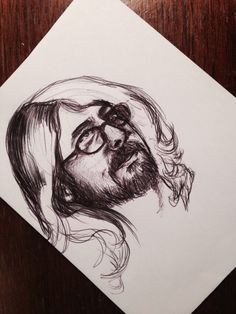 Illustrated with glasses, David Grohl