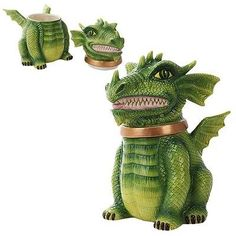 10462-Dragon-Cookie-Jar-Canister-Kitchen-Decor-Wildlife-Forest-Fantasy-Medieval