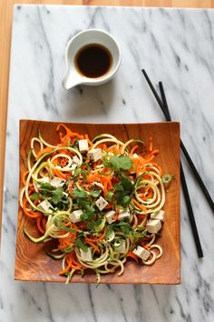 Asian veggie noodle salad {vegan and gluten free} // themuffinmyth.com Clean Recipes, Raw Food Recipes, Healthy Recipes, Lunch Recipes, Healthy Eats, Green Salad Recipes, Vegetarian Salad Recipes, Best Vegan Salads, Brown Rice Recipes