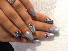Square stillettos by AlysNails - Nail Art Gallery nailartgallery.nailsmag.com by Nails Magazine www.nailsmag.com #nailart