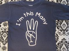 I'm this many / THREE / 3 fingers Birthday shirt for 3 year old boy or girl, comes in many colors and sizes by Ilove2sparkle on Etsy https://www.etsy.com/listing/223807809/im-this-many-three-3-fingers-birthday