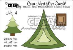 Crealies Crea-nest-Lies No 4, Stanzschablonen SET, Weihnachtsbaum,  CLNS04