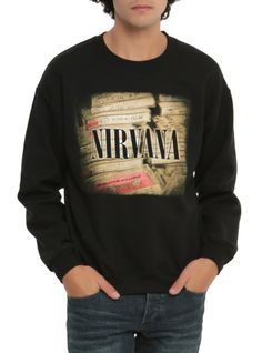 Crewneck+sweatshirt+from+Nirvana+with+cassettes+design+on+front.    Love this look you should try it ! YES I SAID YOU !