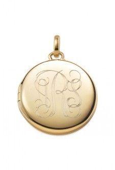 Signature Engravable Memento Locket - Gold