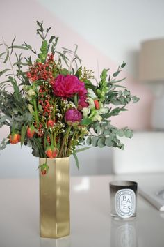{Fall florals that held on for nearly two weeks}