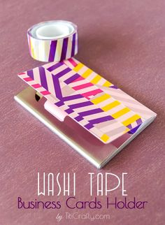 TitiCrafty by Camila: Washi Tape Business Cards Holder
