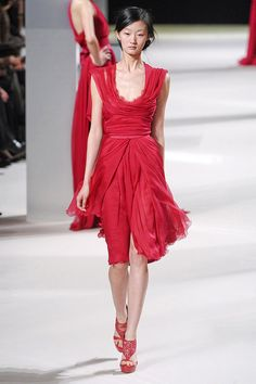 1 of 3 red dresses from the Spring 2011 Haute Couture collection by Elie Saab