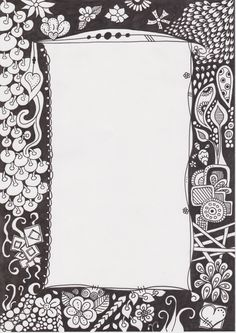 zentangle inspired art, doodle, rahmen, picture frame