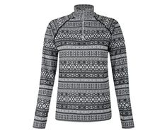 Winter-weight midlayer with a seamless construction for exceptional comfort. Layer it up for skiing, boarding, hiking or biking. Alpine-inspired knit fabric. Durable stretch. Soft-touch. Half zip fastening to get air when you need it.