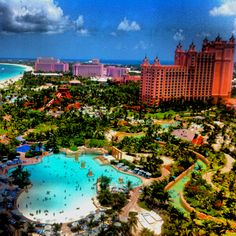 Atlantis in the Bahamas. Seriously thinking about it! Looks like an amazing family vacation for everyone!