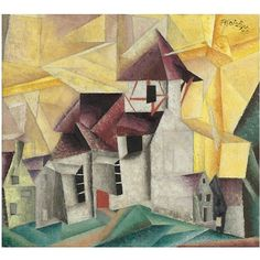 Lyonel Feininger , 1871-1956 CHURCH OF VOLLERSRODA oil on