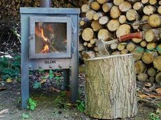 Isn't this lovely to have in your garden? Firewood, Garden Landscaping, Stove, Outdoor Living, Bbq, Home And Garden, Home Appliances, Patio, Landscape