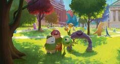 67 Pieces Of Stunning Pixar Concept Art Monsters U. - Dice Tsutsumi