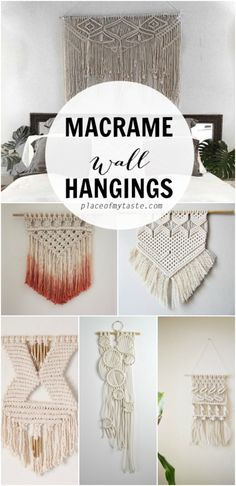 Today I wanted to share some of my favorite macrame wall hangings from Etsy. I am a huge fan of these fantastic wall hangings. It is on my list to try to make a DIY wall hanging one day, but until I get there, I am just going to keep drooling over some of Macrame Design, Macrame Art, Macrame Projects, Macrame Knots, Diy Spring, Creation Deco, Arts And Crafts, Diy Crafts, Macrame Tutorial