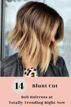 Blunt bob with some texture! Still crisp but moves so effortlessly! Visit our website to see the best examples of blunt bob haircuts. Photo credit: Cut/color @summerevansstudio #bluntbobhaircuts #bluntbobhairstyles