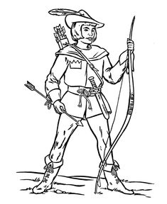 BlueBonkers - Medieval Knights in Armor Coloring Sheets - Archer