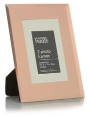 George Home Copper Mirror Glass Frame - 6x4 Inch