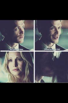 "The Vampire Diaries - Candice Accola as Caroline Forbes & Joseph Morgan as Niklaus ""Klaus"" Mikaelson"