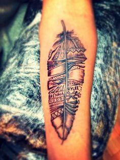 feder-tattoo-tribal-motiv-unterarm-männer-frauen-ideen
