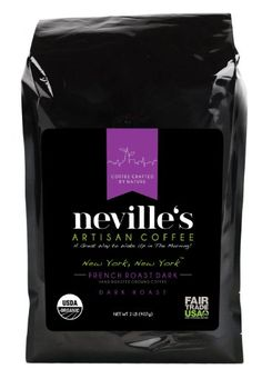 New York, New YorkTM French Roast Dark Coffee - Pure 100% Arabica Bean Ground Coffee - USDA Organic Certified - Freshness Guaranteed - 2 Lb Bag - Neville's Coffee, A Great Way To Wake Up In The Morning! - http://goodvibeorganics.com/new-york-new-yorktm-french-roast-dark-coffee-pure-100-arabica-bean-ground-coffee-usda-organic-certified-freshness-guaranteed-2-lb-bag-nevilles-coffee-a-great-way-to-wake-up-in-the-mornin/