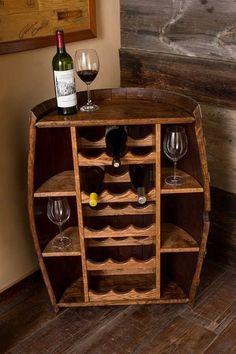 Wine barrel wine storage.