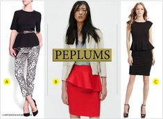 The (Hidden) Power Of The Peplum - Incredible trick for concealing your midsection.