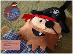 """Adventskalender Pirat """"Käpt'n Wildbart"""" (Nähanleitung und Schnittmuster) - Schnittmuster und Nähanleitungen bei Makerist sofort runterladen"""