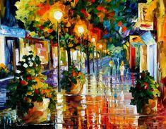 Wander after the rain — PALETTE KNIFE Oil by AfremovArtStudio, $239.00