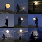 Photographer Laurent Lavender Plays with the Moon...too cool
