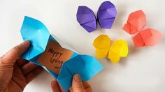 Popular DIY Crafts Blog: How to Fold an Origami Butterfly Box