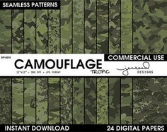 Green Camo Paper | Military Camouflage || Multicam Camo || Forest Camo || Dark Military || Military Camoflage || Commercial Use || DP16018