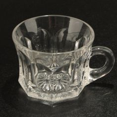 Heisey Peerless Punch Cup 300 Clear Glass 4 oz Vtg.