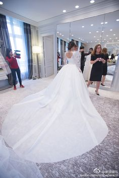 Angelababy's Wedding of the Year // Angelababy in a customized Dior couture wedding gown