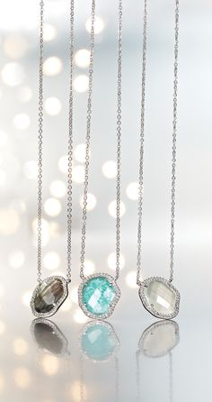 Shimmer with Pavé pendant necklace.