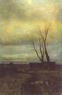 Autumn, Road In A Village by Isaac Levitan