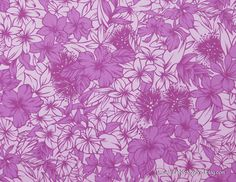 Tropical floral fabric. By HawaiianFabricNBYond. Sell on Etsy.com.
