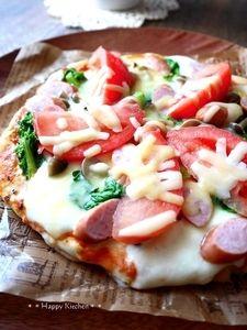 フライパンで作る、発酵いらずのピザレシピ。