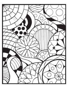 Coloring Page Circles 3
