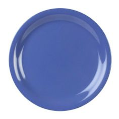 Excellanté Blue Melamine Collection 9-Inch Narrow Rim Round Plate, Blue, 12-Piece by Excellanté. $56.85. It is dishwasher safe and National Sanitation Foundation (NSF) approved. Not recommend for microwave or oven use, but able to withstand up to 212 degrees fahrenheit. 9-Inch narrow rim round plate - blue (comes in 12 pieces). Made out of 100-Percent non-toxic melamine material. Comes in wide range of other colors: blue, white, Ivory, yellow, Adobe, and green. Excellant