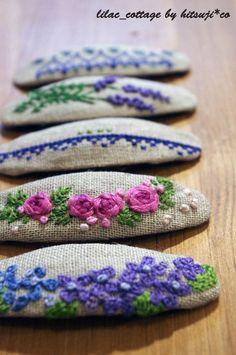 刺繡のパッチンピンの作り方 刺繍 編み物・手芸・ソーイング ハンドメイドカテゴリ アトリエ