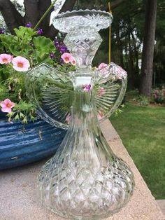 Repurposed Glass Garden Angel by Tambrey the Repurposer by mari