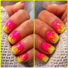 Neon Swirl by SMW - Nail Art Gallery nailartgallery.nailsmag.com by Nails Magazine www.nailsmag.com #nailart