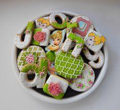 Tinker Bell Birthday Cookies     http://cakesdecor.com/Sugarrushcookies
