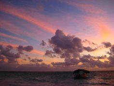 Ocean sunrise. Punta Cana, Dominican Republic.