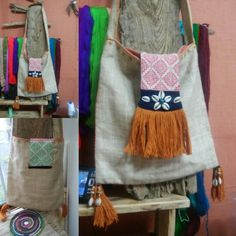 Handmade side bag.by dandanaturecraft