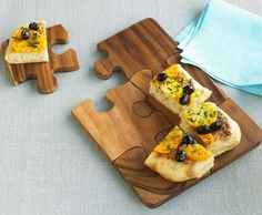 puzzle serving platter