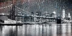 Neu in meiner Galerie bei OhMyPrints: Urban-Art NYC Brooklyn Bridge III