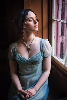 It felt as if she was living in a very long dream. Her whole demeanor had been reformed and her look had been refined. Regency Dress, Regency Era, Historical Costume, Historical Clothing, Vintage Gowns, Vintage Outfits, Vintage Ladies, Richard Jenkins, Retro Fashion
